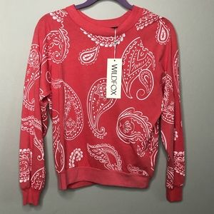 Wildfox Tops - NWT Wildfox Paisley sweater size M // S25